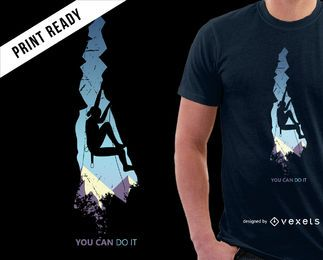 Design de t-shirt para escalar montanhas