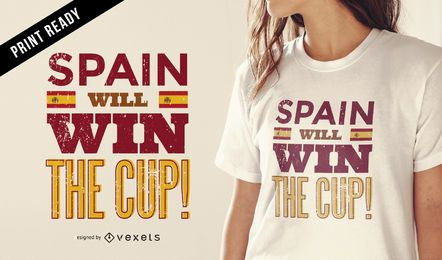 Diseño de la camiseta España Rusia 2018