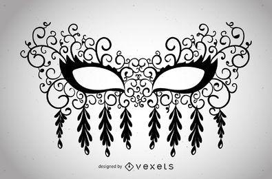 Máscara de venecia con remolinos