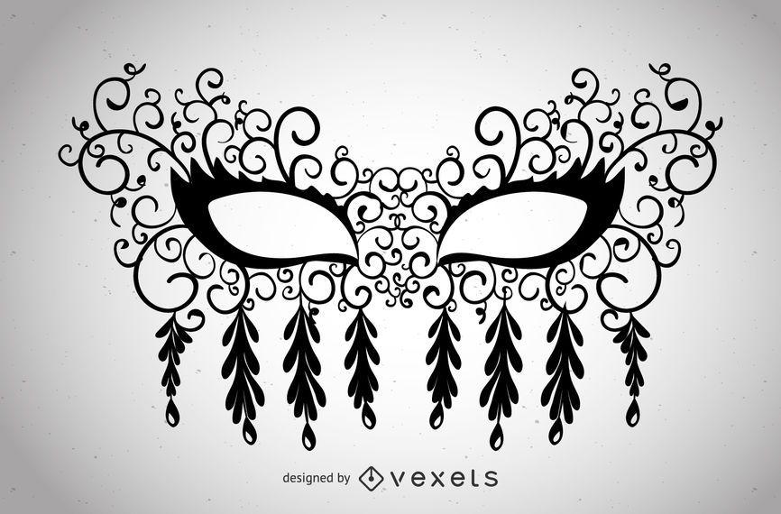 Venice mask with swirls