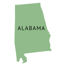 Mapa da planície do estado de Alabama