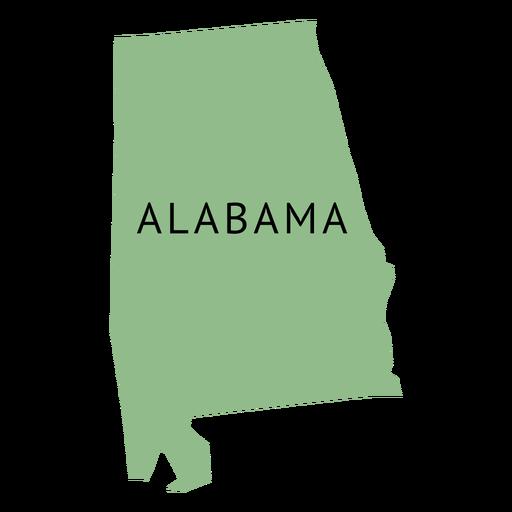 Alabama state plain map Transparent PNG