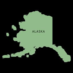 Mapa llano del estado de Alaska