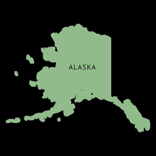 Alaska state plain map Transparent PNG