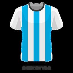 Dibujos animados de camiseta de fútbol de la copa mundial de argentina