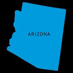 Landkarte von Arizona State
