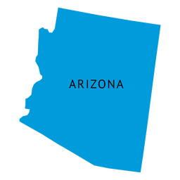 Mapa plano do estado do Arizona
