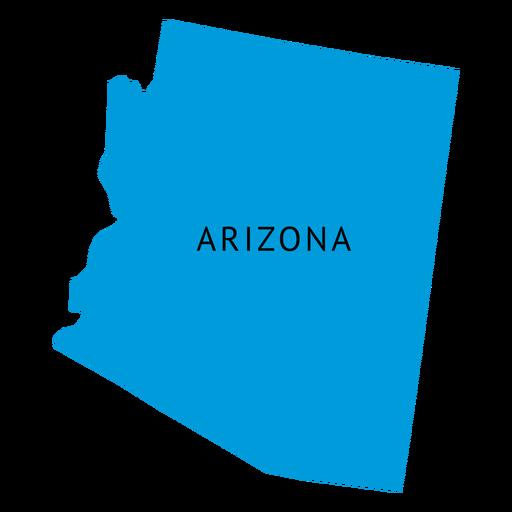 Mapa llano del estado de Arizona Transparent PNG