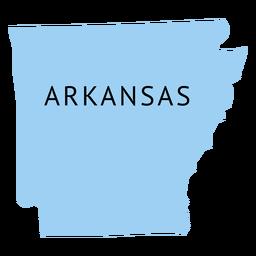 Arkansas state plain map