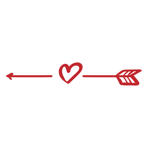 Arrow and heart sticker Transparent PNG
