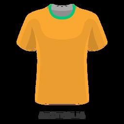 Dibujos animados de camiseta de fútbol de copa mundial de australia