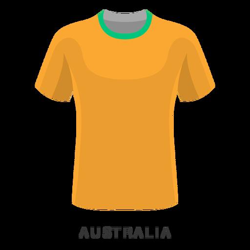 Desenhos animados da camisa do futebol da copa do mundo de Austrália Transparent PNG
