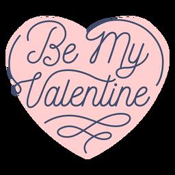 Sé mi adhesivo de San Valentín
