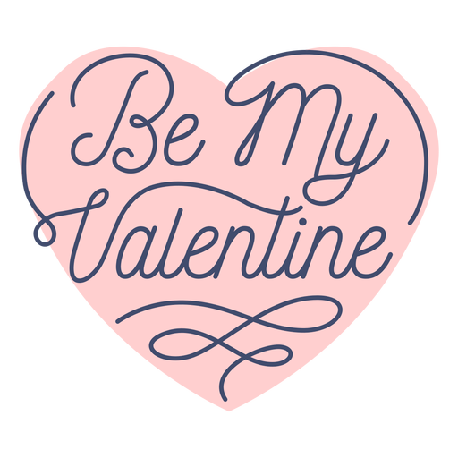 Be my valentine sticker Transparent PNG