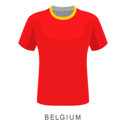 Bélgica copa mundial de fútbol camiseta de dibujos animados