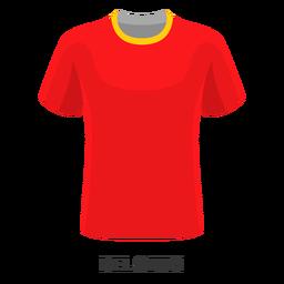 Dibujos animados de camiseta de fútbol de la copa mundial de Bélgica