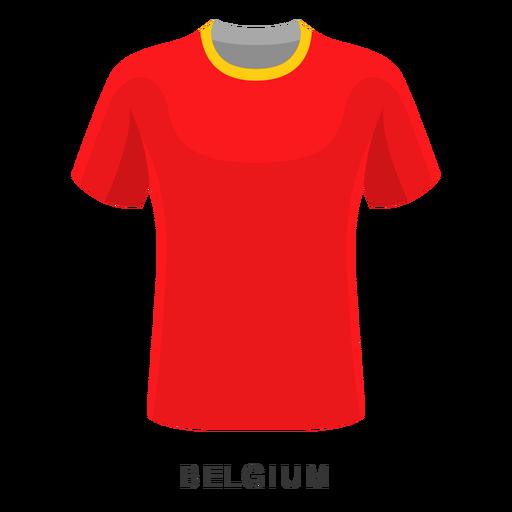 Desenhos animados da camisa do futebol do copo de mundo de Bélgica Transparent PNG