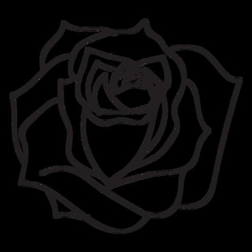 Ícone Blooming rose stroke - Baixar PNG/SVG Transparente