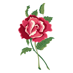Blooming icono de pintura de agua de rosa