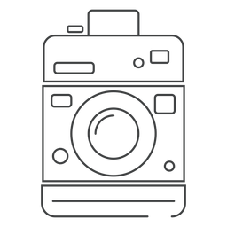 Box camera stroke icon