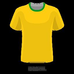 Brasil copa mundial de fútbol camiseta de dibujos animados