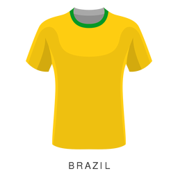 Dibujos animados de camisa de fútbol Copa del mundo de Brasil