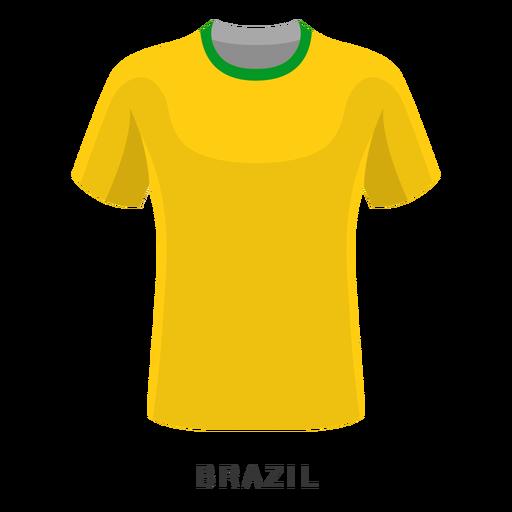 Desenhos animados da camisa do futebol da copa do mundo de Brasil Transparent PNG
