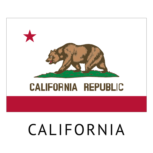 California state flag Transparent PNG