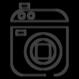 Ícone de traço de câmera de vídeo filmadora