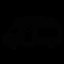 Flache Ikone des Wohnmobils