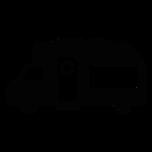 Icono plano de autocaravana