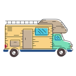 Camper van illustration