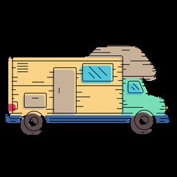 Ilustración de autocaravana