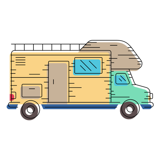 Camper van illustration Transparent PNG