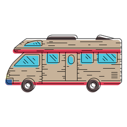 Camper vehicle illustration
