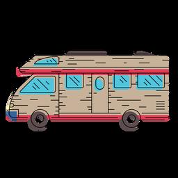 Ilustración de vehículo camper