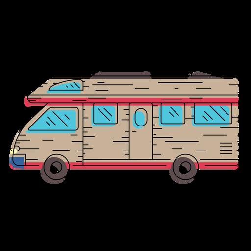 Camper vehicle illustration