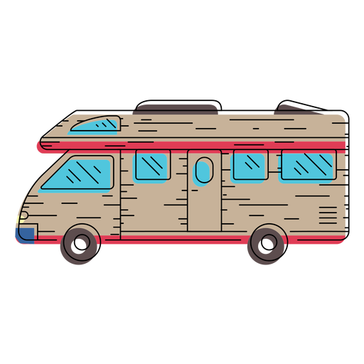 Ilustración de vehículo camper Transparent PNG