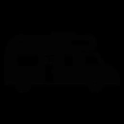 Icono plano de vehículo de autocaravana