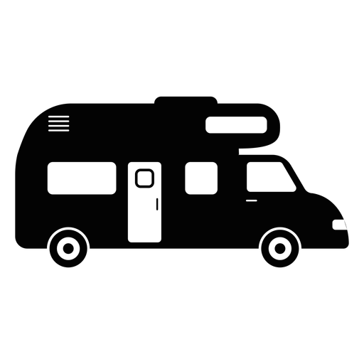 Campervan vehicle flat icon Transparent PNG