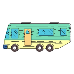Campervan vehicle illustration