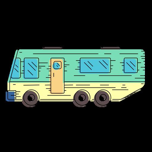 Campervan vehicle illustration Transparent PNG