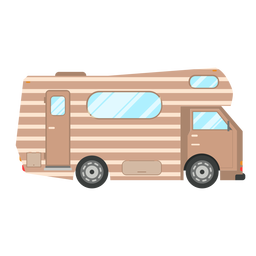 Campervan vehicle vector