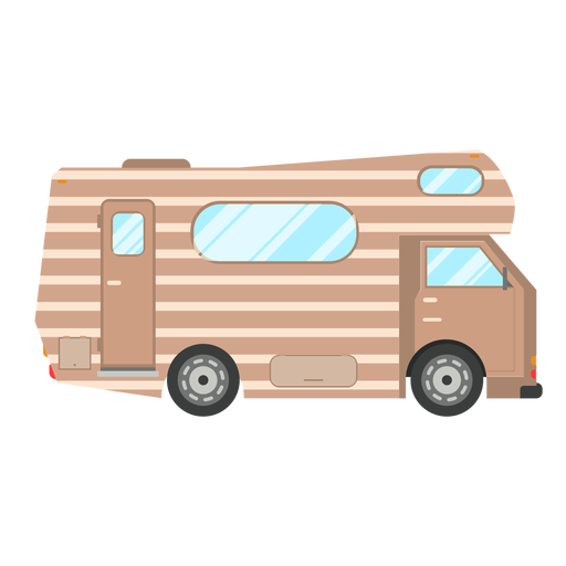 Campervan vehicle vector Transparent PNG