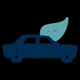 Logotipo de serviço de eco de carro