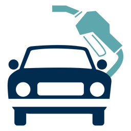 Logotipo de serviço de posto de gasolina de carro