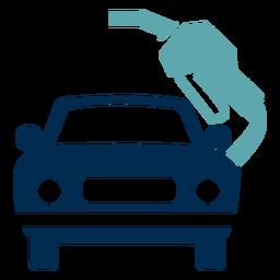 Logotipo do serviço de posto de gasolina do carro