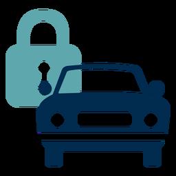 Logotipo de servicio de bloqueo de coche