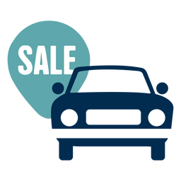 Logotipo de servicio de venta de coche