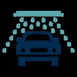 Logotipo do serviço de lavagem de carros